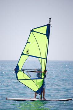 El surf a vela, windsurf o tabla a vela es una modalidad del deporte a vela que consiste en desplazarse en el agua sobre una tabla algo similar a una de surf, provista de una vela.