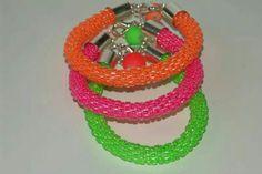 Sznury koralikowo szydełkowe / beaded crotchet rope