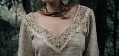 Love this neckline detail  Pixie Long Sleeve Cream Raw silk Shirt With by AnuttaraCrafts