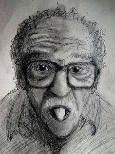 Una idea, mucho arte Gabriel García Márquez Lápiz en papel 20 x 30 cm Autor Jesús Encinar.