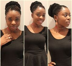 braid styles from Ghana with photos trends) - Afro Hair Ghana Cornrows, Ghana Braids Hairstyles, Cute Braided Hairstyles, Crochet Braids Hairstyles, My Hairstyle, African Hairstyles, Ponytail Hairstyles, Ghana Braids Updo, Cornrows Updo