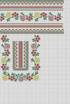 This Pin was discovered by mil Embroidery Patterns Free, Knitting Patterns, Needlework, Diy And Crafts, Projects To Try, Cross Stitch, Sewing, Crochet, Handmade