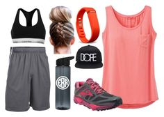 """Track"" by sophiajsmith on Polyvore featuring prAna, Under Armour, Brooks, Calvin Klein, 21 Men and Fitbit"