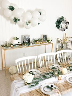 How to decorate a stylish, on-trend Botanical Bridal Shower. How to decorate a stylish, on-trend Botanical Bridal Shower. Bridal Shower Planning, Bridal Shower Tables, White Bridal Shower, White Baby Showers, Gold Bridal Showers, Bridal Shower Decorations, Themed Bridal Showers, Baby Shower Decorations Neutral, Bridal Shower Backdrop