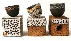 Ceramic art by Judit Varga Ceramic Boxes, Ceramic Clay, Ceramic Pottery, Pottery Art, Slab Pottery, Pottery Studio, Cerámica Ideas, Sculptures Céramiques, Ceramic Sculptures