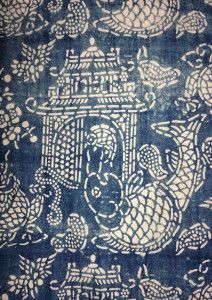 Nankeen 6 One of Bleu Anglais' antique Chinese indigo textiles. So pleased they will be at our fair in Chelsea on 2 October 2014.
