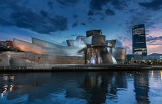 Blue Hour In Bilbao - null