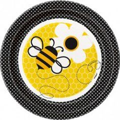 Bee Dessert Plates - 7in (8 Pack)
