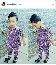 DKK Latest African fashion Ankara kitenge African women dresses African p Ankara Styles For Kids, African Dresses For Kids, African Babies, African Children, Dresses Kids Girl, African Women, Kids Outfits, African Fashion Designers, African Fashion Ankara