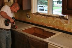 cement countertops | How to make cast-in-place concrete countertops: