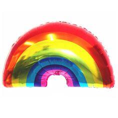 Giant rainbow foil balloon Rainbow & Unicorn Party