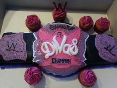 WWE diva champion belt cake AJ Lees champion cake lol