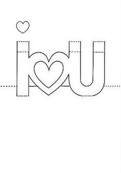i love you card template
