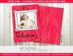 Framed with Love Printable Valentine's Day Photo Card : Personalized Photo Valentine's Day Card - White Doodle Frame - Item VA106 by KMThomasDesigns on Etsy
