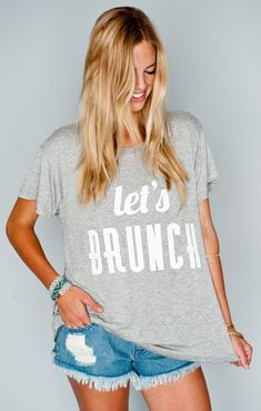 Show Me Your MuMu Oliver Tee ~ Let's Brunch