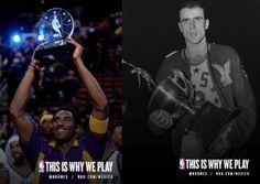 Tanto Kobe Bryant como el gran Bob Pettit han sido nombrados como MVP del NBA All-Star Game 4 veces.  #NBA #MVP #NBAAllStarGame #NBAAllStar #Winners #NBAMVP #JMV #Trophy #Trofeo