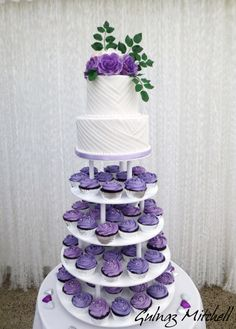"Wedding cake with cupcakes tower "" Kirstin"""