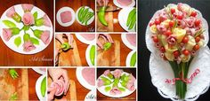 21 easy food decoration ideas you will love Food Crafts, Diy Food, Cute Food, Good Food, Comida Diy, Food Carving, Vegetable Carving, Spicy Sausage, Food Garnishes
