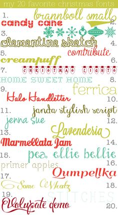 My 20 Favorite Christmas Fonts