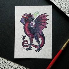 """179 Likes, 10 Comments - Emma Lazauski (@emmalazauski) on Instagram: """"A poisonous cockatrice with a draconic touch.  I'll have some more #smaugust stuff as I finish up…"""""""