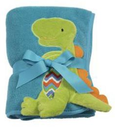 Buy Dinosaur plush turquoise blanket with one name personalized plush boy gift by emagesembroidery. Explore more products on http://emagesembroidery.etsy.com