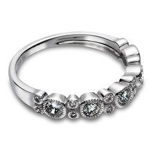 0.50 CTW Diamond Miligrained Band in 14KT White Gold.