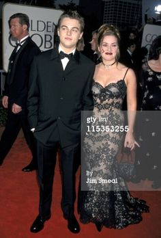Titanic flashback! Kate Winslet lovely in lace at the 1998 Golden Globe Awards