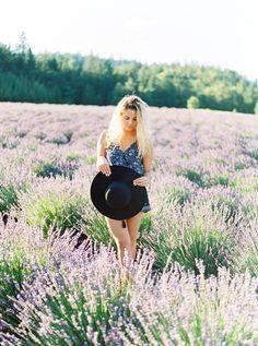 Lavender Field Portraits - Oregon Wedding Photographer. Rebecca Masters Photography - Fine Art Film Photographer. Oregon Lavender Festival