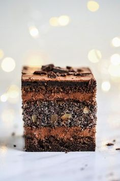 Cake Bars, Fudge Cake, Polish Cake Recipe, Polish Recipes, Cookie Recipes, Dessert Recipes, Desserts, Ginger Sweets, Vegan Smoothies