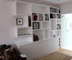 "Contemporary bookcase ""crazy paving like"""
