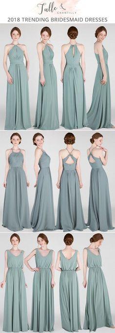2018 greenery bridesmaid dresses #bridalparty #wedding #bridesmaiddresses #greenweddingshoes #greenery