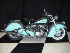 1948 Indian Chief. Don't much like the blue, but it sure is pretty.
