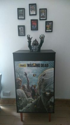 I made zombie drawers out of a poster I had but didn't know where to hang it.