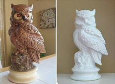 Paint it white. Owls!:). Dad still has these (yup-doubt he'd let me paint them though..)
