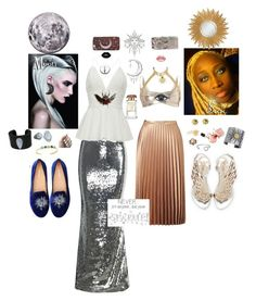"""""""Sister Sun & Sister Moon"""" by sungoddess589 on Polyvore featuring Disney, Wella, WithChic, Miss Selfridge, Carolina Glamour Collection, Bling Jewelry, Sophia Webster, Oscar de la Renta, Stephen Dweck and Gurhan"""