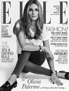 "blackandwhitemodel: ""OLIVIA PALERMO WEARS CASUAL STYLE FOR ELLE AUSTRALIA SHOOT """