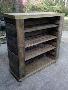 Pallet Bookshelf Pallet Bookcases & Bookshelves