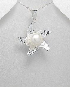 US $35.99 New with tags in Jewelry & Watches, Fine Jewelry, Fine Necklaces & Pendants Pearl Pendant Necklace, Pearl Jewelry, Fine Jewelry, Lobsters, Crabs, Nautical Jewelry, Rare Gemstones, Beach Chairs, Mothers Love