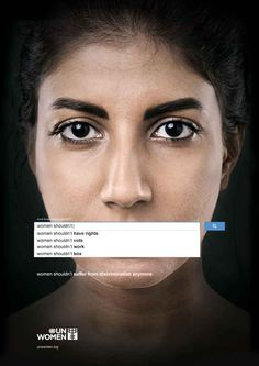 U.N. Ad Campaign Shows What The Internet Thinks Of Women - BuzzFeed Mobile. Very telling...