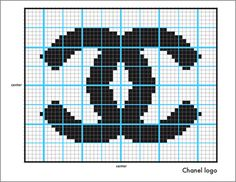 Knit Chanel Logo-The Counterfeit Crochet Project Cross Stitch Quotes, Cross Stitch Art, Cross Stitch Designs, Cross Stitch Patterns, Loom Patterns, Beading Patterns, Crochet Patterns, Chanel Logo, Knitting Paterns