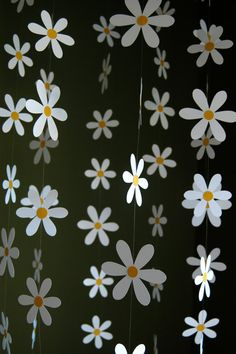 Daisy Flower Mobile  Paper Daisy Mobile for Nursery Baby or
