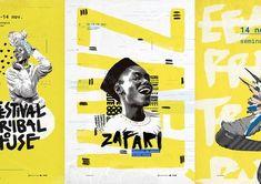 tribal design For Men is part of Best Tribal Tattoo Designs For Men And Women - Zafari Festival Tribal House on Behance Web Design, Graphic Design Trends, Graphic Design Posters, Graphic Design Inspiration, Typography Design, Layout Design, Print Design, Logo Design, Design Ideas