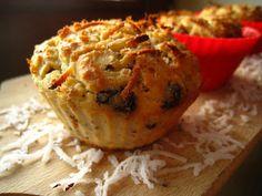 Szybkie gotowanie: Muffinki z białej fasoli z czekoladą i wiórkami kokosowymi