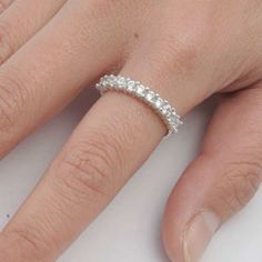 Sterling Silver ring size 5 CZ Round cut Wedding Band Engagement Bridal New x07 #Unbranded