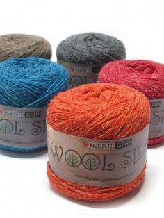 Hjertegarn Wool Silk: 75% organic wool, 25% silk. #GOTS