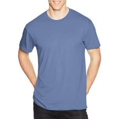 Hanes Men's Nano-T Short Sleeve Tee, Size: Medium, Blue