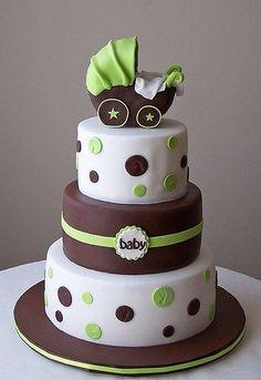 Los cochecitos de bebé, la decoración estrella para tartas - Comida para un Baby shower
