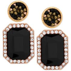 Guess 2-Pc. Geometric Stud Earring Set ($22) ❤ liked on Polyvore featuring jewelry, earrings, jet, geometric stud earrings, round stud earrings, geometric jewelry, gold colored earrings and geometric earrings
