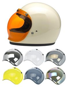 New Anti-Fog Bubble Shield from Biltwell Motorcycle Outfit, Motorcycle Helmets, Bicycle Helmet, Cb500 Cafe Racer, Cafe Racer Helmet, Brat Cafe, Cafe Racer Style, Radio Flyer, Harley Bikes
