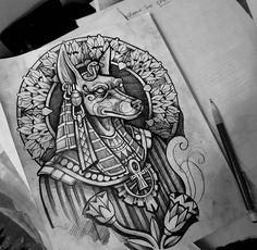 Egypt Tattoo, Body Art Tattoos, Dragon Tattoo Back Piece, Art Tattoo, Egyptian Tattoo, Japanese Dragon Tattoos, Anubis Tattoo, Egyptian Tattoo Sleeve, Tattoo Stencils